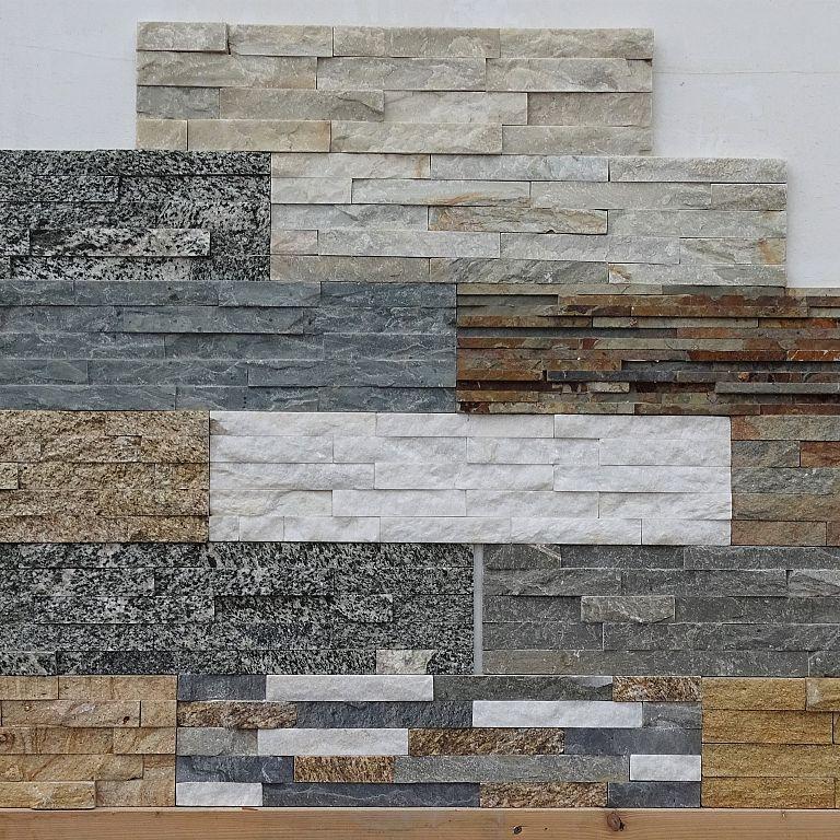 Različni tipi in barve dekorativnega kamna